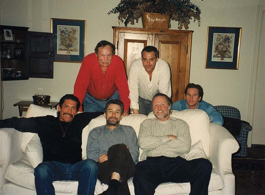 """""""To be able to work with my best friend Eddie Bunker (top left), and guys like Tom Sizemore, Robert De Niro, Jon Voight, and Val Kilmer on 'Heat' in 1994 is probably my fondest film memory."""""""